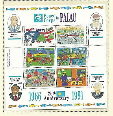 Palau 1991 Peace Corps Sheetlet  complete MUH/MNH as Issued