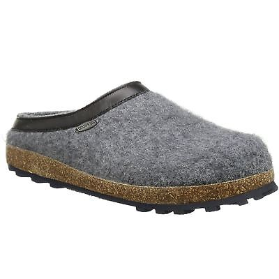 Giesswein Chiemsee Slate Mens Wool Open-Back Slip-on House Shoes Slippers