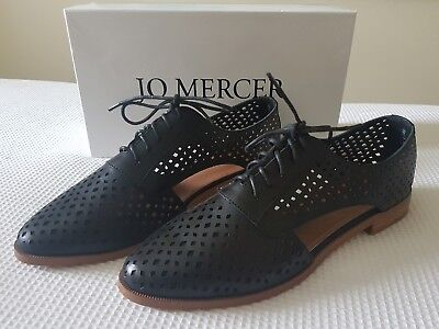 """Jo Mercer- """"montague Black"""" Leather Lace Up With Cut Up Design Nwt 41 (10) $189."""
