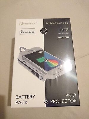 Genuine Aiptek MobileCinema i55 Pico Projector and power bank for iPhone 5/5s