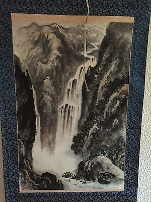 A Fine Chinese Hand Painted Scroll Painting