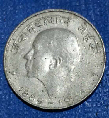 Rare -  India  Nehru Commemorative  50 Paisa  Coin  -#1142-  Free Shipping