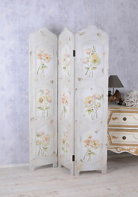 Divider Screen Country Style Dressing Partition Flower Painting