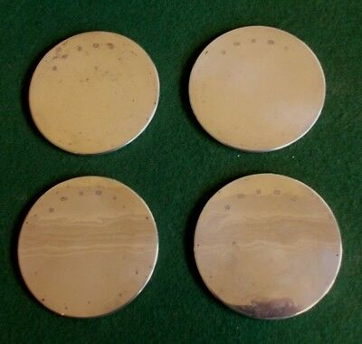 A Nice Set Of Four Silver Hallmarked Wine Glass Coasters