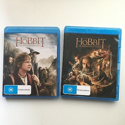 The Hobbit 1 & 2: An Unexpected Journey AND The Desolation of Smaug (Blu-Ray)