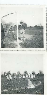 ** 2 Belles Photos , Football , Villedieu, Gardien de But et Equipe , 1944 **