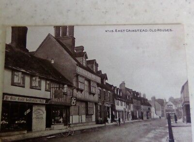Old Vintage Postcard East Grinstead West Sussex Old Houses RP