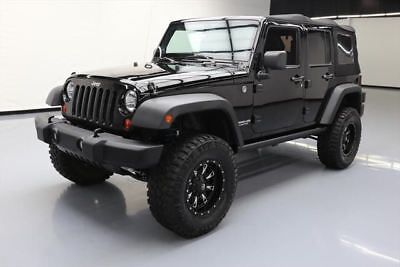 2013 Jeep Wrangler Unlimited Rubicon Sport Utility 4-Door 2013 JEEP WRANGLER UNLTD RUBICON 4X4 6-SPEED LIFTED 61K #646914 Texas Direct