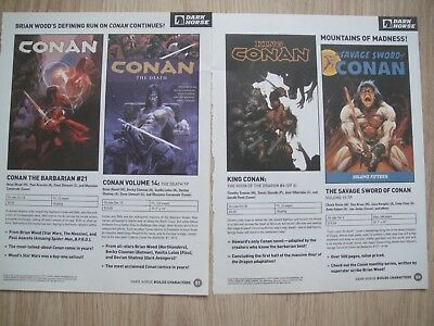 Conan Dark Horse Comics ~ Cuttings Clippings ~ Unusual Rare ~