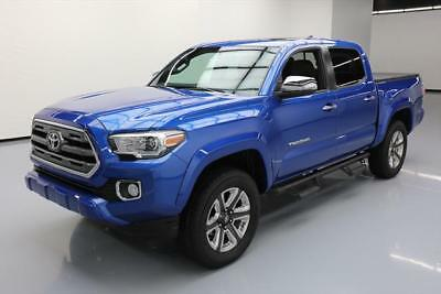 2017 Toyota Tacoma Limited Crew Cab Pickup 4-Door 2017 TOYOTA TACOMA LTD DOUBLE CAB 4X4 SUNROOF NAV 22K #063622 Texas Direct Auto