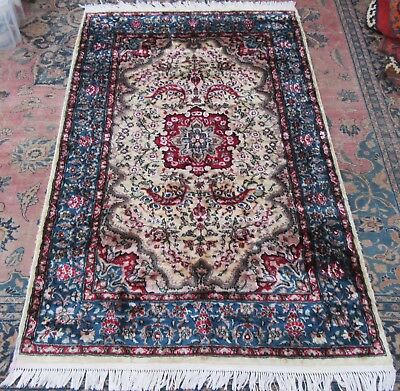 Antique Silk And Wool Piled Armenian Tabriz Large Rug    Been Hand Washed