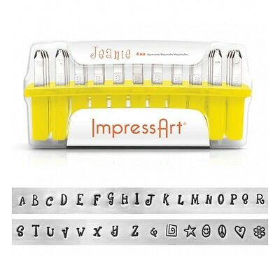 ImpressArt Metal Stamps Set Jewelry Stamping Kit JEANIE Font Uppercase Stamps