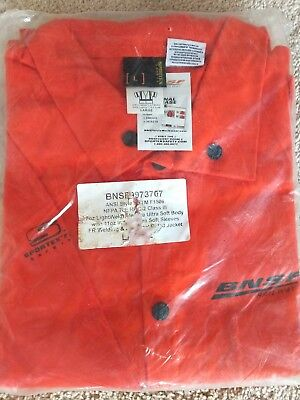 Sportex Orang Safety long sleeve Welding Jacket Flame Resistant BNSF size large