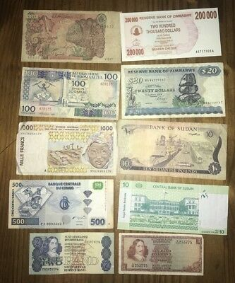 AFRICAN Banknotes x 10