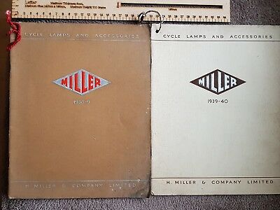 H. Miller  Motor Cycle Lamps And Accessories 1938-9 And 1939 Catalogue X2