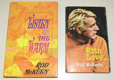 Lot of 2 - Rod McKuen, With Love... / Listen to the Warm, poetry, poems, vintage