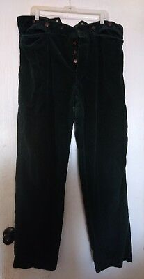 Civil War Reenacting  Dark Green Corduroy Pants Period Correct Size 40