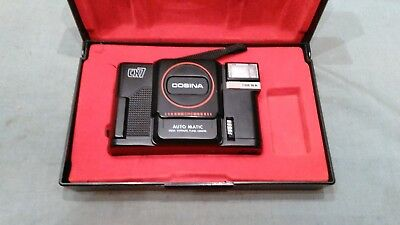 Cosina CX7 automatic focus exposure flash loading Camera 21210089 japan wth case
