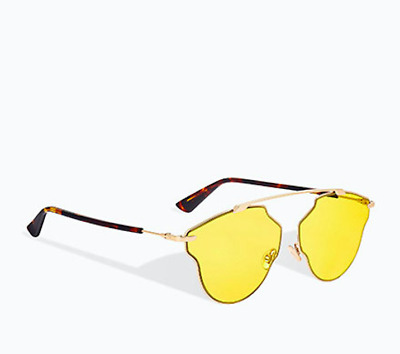 b52733a1ee New Christian Dior So Real Pop Havanna Gold Yellow Tinted Lens Sunglasses