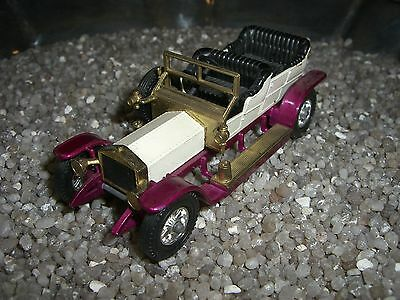 ROLLS ROYCE SILVER GHOST  MATCHBOX  Made in England by Lesney weiß / lila  nr 2