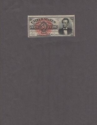 Lincoln 50 Cent 4th Issue Fractional Currency, VF+, NICE!!