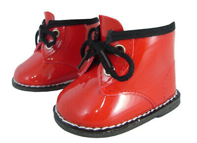 """Christmas Red Patent Booties Boots Shoes for 18"""" American Girl Doll Clothes"""