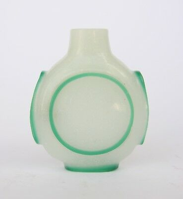 Chinese Glass Overlay Snuff Bottle 19thC