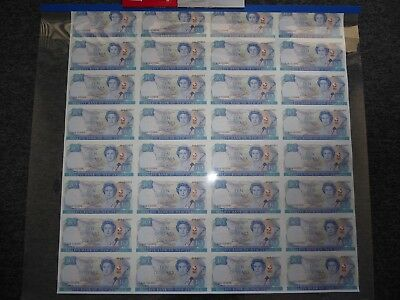 1990 New Zealand $10 - Uncut Notes Set of 32  AAA - Treaty Of Waitangi