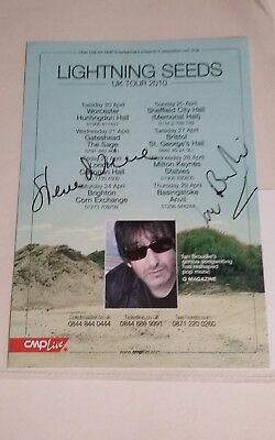 Signed Lightning Seeds 2010 Tour flyer, C of A