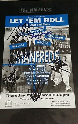 "Signed ""The Manfreds"" Tour poster, C of A, signed by 6 band members."