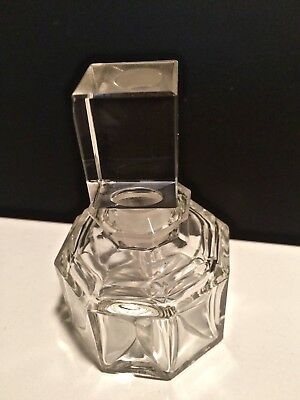 Clear Crystal Glass Perfume Bottle -  MINT -1940's/1950's