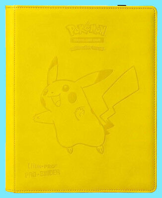 Ultra Pro 9 POCKET PREMIUM LEATHERETTE Pokemon PIKACHU BINDER 360 Card 20 Pages