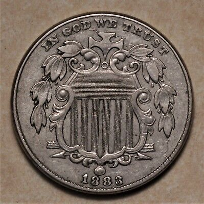 1883 Shield Nickel CHOICE XF Well Struck No Reserve!