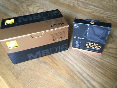 New Nikon MB-D16 Battery Grip for D750 with a New Vello Snap On Screen Protector