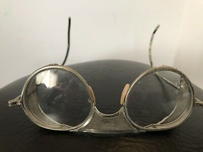 Vintage Bausch Lomb B&L Safety Glasses Goggles #47 steampunk cosplay