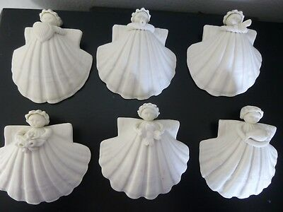 Lot of 6 Margaret Furlong Porcelain Angel (Everyday) Ornaments, Collectables