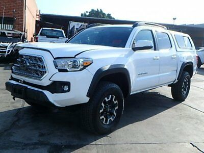 2016 Toyota Tacoma SR5 Double Cab Long Bed V6 5AT 4WD 2016 TOYOTA TACOMA TRD OFF-ROAD SR5 Double Cab Salvaged Rebuild Wrecked Must Go!