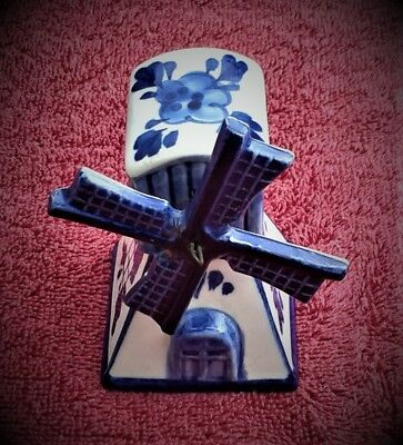 Genuine Hand Painted  Delft Dutch China Windmill