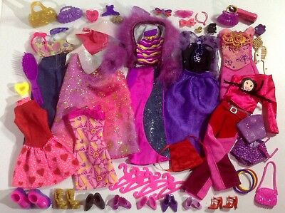 Barbie Doll Clothes Fashion Outfits Shoes Bags Matching Accessories Bulk Lot