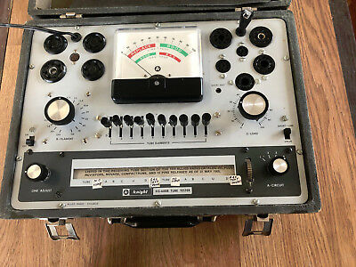 Vintage Knight 600 Series Tube Checker KG-600B Tube Tester Allied Radio Chicago