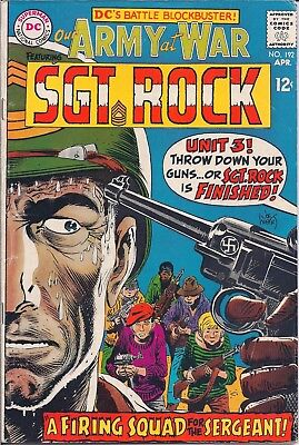 "Dc Comics Our Army At War Sgt. Rock - #192 Apr 1968 ""firing Squad For Sergeant!"""