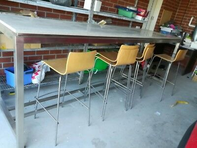 3m long marbel topped bench table and stools