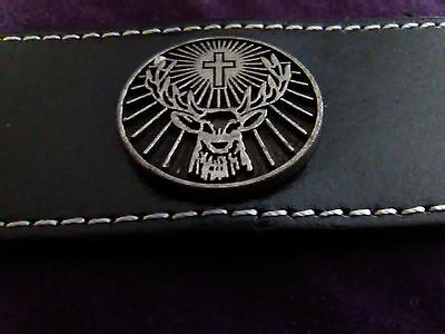 Jagermeister Leather Bracelet/Cuff/Band with Snaps