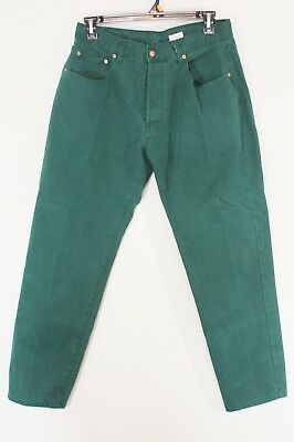 Vintage Big Star Womens High Waist Jeans Euro 46 US 16 Button Fly Green Cotton