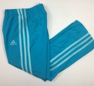 Adidas Girls Sweatpants Windbreaker Pants Light Blue Athletic Sweats Kids Size 5