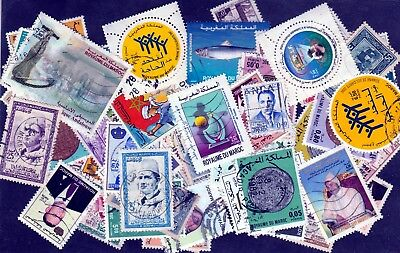 MOROCCO : Collection - Packet - 100 Different - With recent stamps