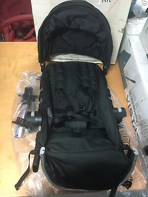Baby Jogger City Select black seat Second seat ONLY Silver frame/black seat