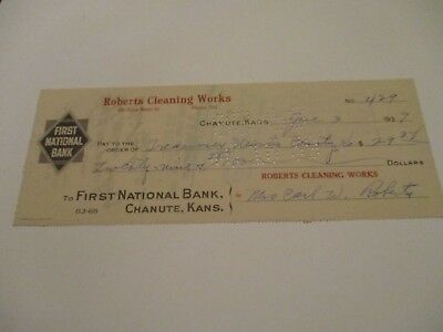 Roberts Cleaning Works - The First National Bank - Chanute Kansas