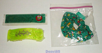 "VINTAGE Lot of 3 Sanrio KEROPPI ""For Your Hair"" Items from the 1990s! 2 are NEW!"