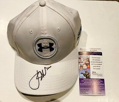 9dcab16cd001 Jordan Spieth Signed Under Armour Golf Hat  jsa Coa  Pga Authentic Autograph